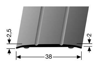 AFDEKSTRIP 38MM - Aluminium