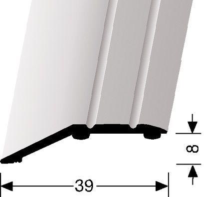 AFDEK/COVERSTRIP GEBOGEN/SLOPE SMALL - Aluminium