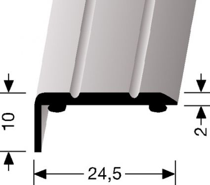 ANGLED STRIP SMALL - Aluminium