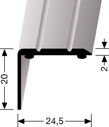 ANGLED STRIP LARGE - Aluminium