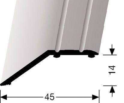 AFDEK/COVERSTRIP GEBOGEN/SLOPE LARGE - Aluminium