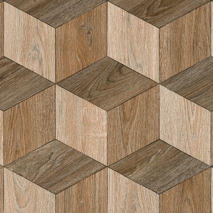PARQUET WOOD - 537 Hexagon Brown Wood