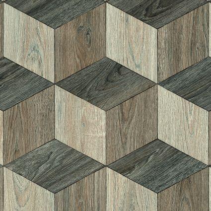 PARQUET WOOD - 584 Hexagon Multicolour